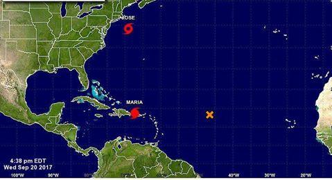 Huracán María disminuye a categoría 2 en la escala de Saffir-Simpson.