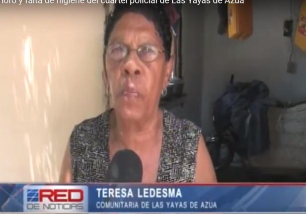 Sra Teresa Ledesma denuncia condiciones del cuartel de Las Yayas